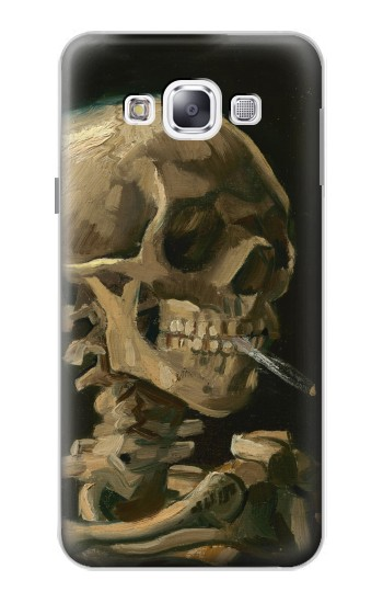 Printed Vincent Van Gogh Head Skeleton Cigarette Samsung Galaxy E5 Case