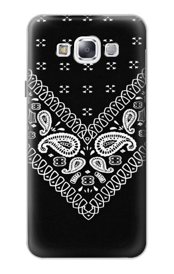 Printed Bandana Black Pattern Samsung Galaxy E5 Case