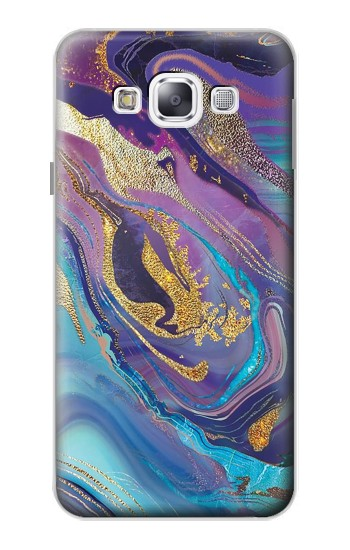 Printed Colorful Abstract Marble Stone Samsung Galaxy E5 Case