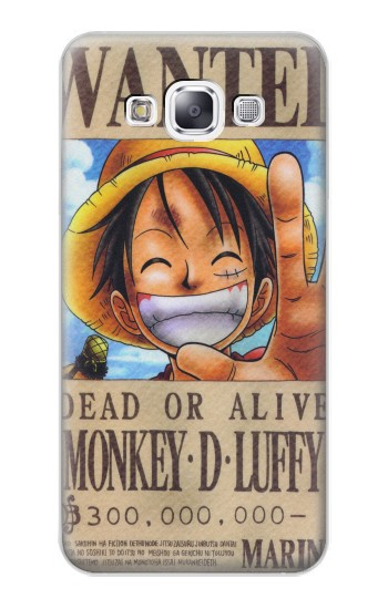 Printed One Piece Monkey D Luffy Wanted Poster Samsung Galaxy E7 Case