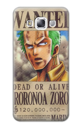 Printed One Piece Roronoa Zoro Wanted Poster Samsung Galaxy E7 Case