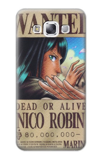 Printed One Piece Nico Robin Wanted Poster Samsung Galaxy E7 Case