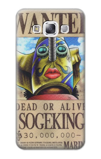 Printed One Piece SOGEKING Wanted Poster Samsung Galaxy E7 Case