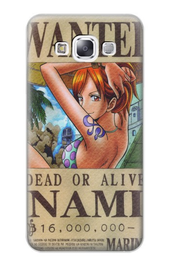 Printed One Piece NAMI Wanted Poster Samsung Galaxy E7 Case