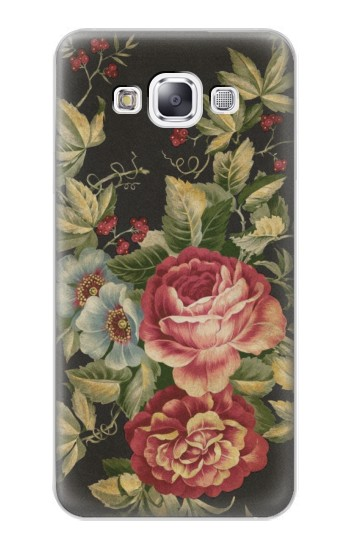 Printed Vintage Antique Roses Samsung Galaxy E7 Case