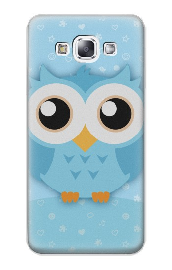 Printed Cute Blue Owl Samsung Galaxy E7 Case