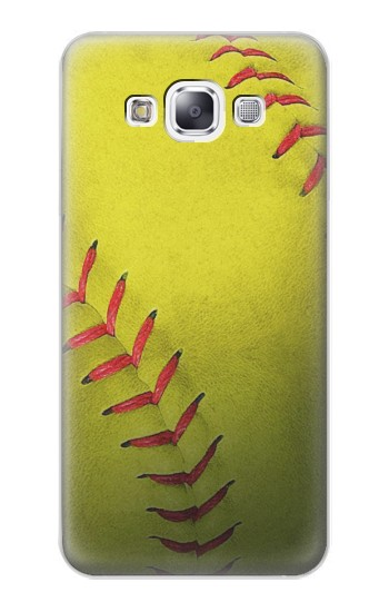 Printed Yellow Softball Ball Samsung Galaxy E7 Case