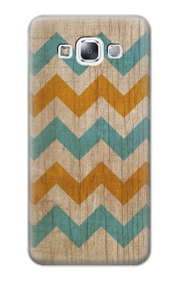 Printed Vintage Wood Chevron Samsung Galaxy E7 Case