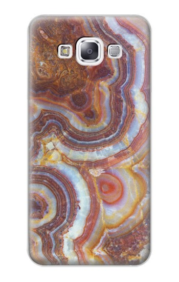 Printed Colored Marble Texture Printed Samsung Galaxy E7 Case