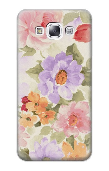 Printed Sweet Flower Painting Samsung Galaxy E7 Case