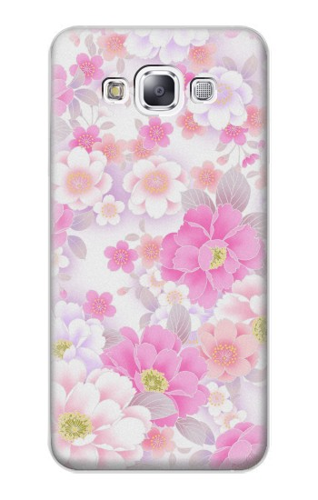 Printed Pink Sweet Flower Flora Samsung Galaxy E7 Case