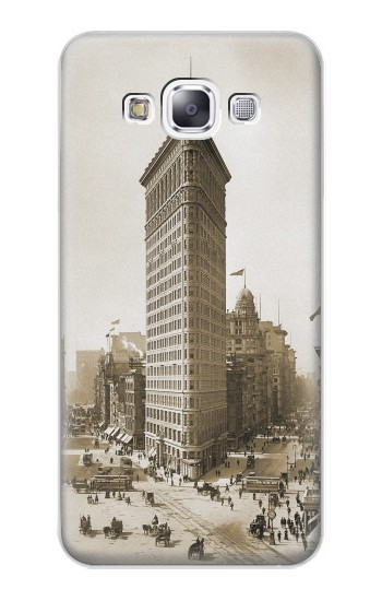 Printed Old New York Flatiron Building Samsung Galaxy E7 Case