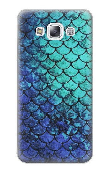 Printed Green Mermaid Fish Scale Samsung Galaxy E7 Case