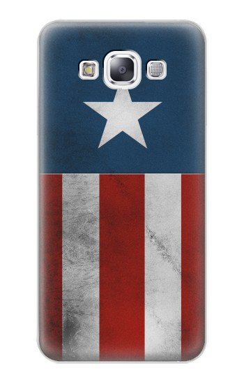 Printed Captain Star Flag of America Samsung Galaxy E7 Case