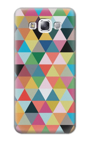 Printed Triangles Vibrant Colors Samsung Galaxy E7 Case