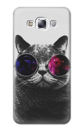 Printed Cool Cat Glasses Samsung Galaxy E7 Case