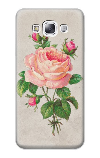 Printed Vintage Pink Rose Samsung Galaxy E7 Case