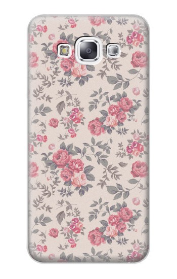 Printed Vintage Rose Pattern Samsung Galaxy E7 Case