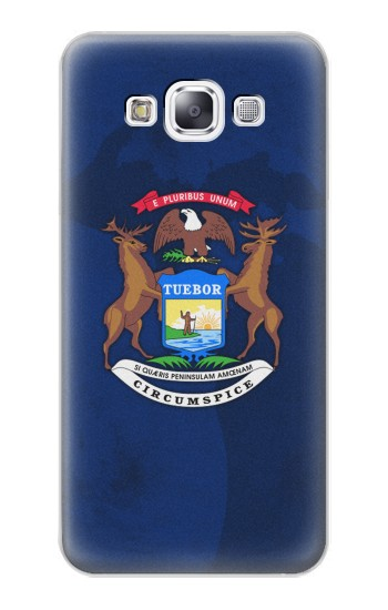 Printed State of Michigan Flag Samsung Galaxy E7 Case