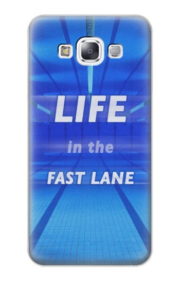 Printed Life in the Fast Lane Swimming Pool Samsung Galaxy E7 Case