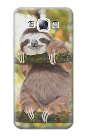 Printed Cute Baby Sloth Paint Samsung Galaxy E7 Case