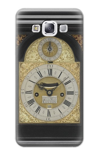 Printed Antique Bracket Clock Samsung Galaxy E7 Case