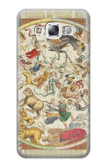 Printed Antique Constellation Map Samsung Galaxy E7 Case
