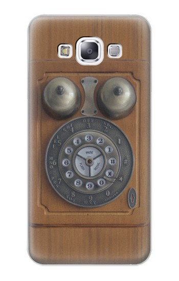 Printed Antique Wall Phone Samsung Galaxy E7 Case