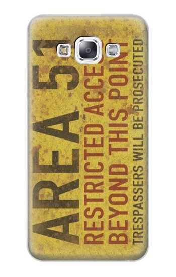 Printed Area 51 Restricted Access Warning Sign Samsung Galaxy E7 Case