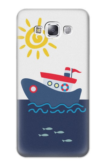 Printed Cartoon Fishing Boat Samsung Galaxy E7 Case