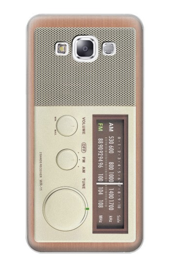 Printed FM AM Wooden Receiver Graphic Samsung Galaxy E7 Case