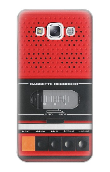 Printed Red Cassette Recorder Graphic Samsung Galaxy E7 Case