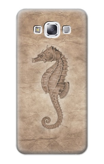 Printed Seahorse Old Paper Samsung Galaxy E7 Case