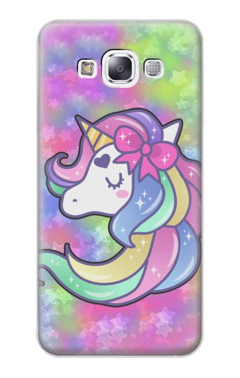 Printed Pastel Unicorn Samsung Galaxy E7 Case