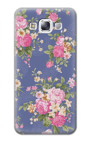 Printed Vintage Flower Pattern Samsung Galaxy E7 Case