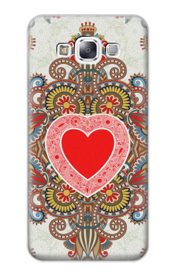 Printed Heart Pattern Line Art Samsung Galaxy E7 Case