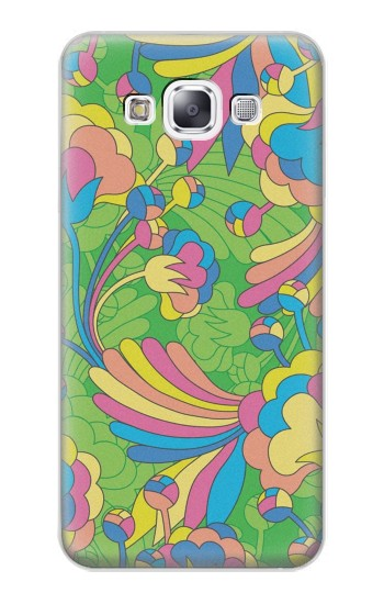 Printed Flower Line Art Pattern Samsung Galaxy E7 Case