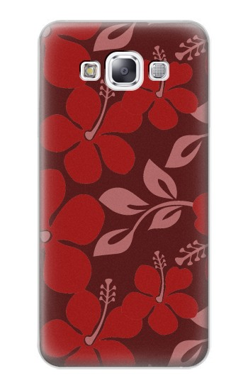 Printed Hawaii Dark Red Pattern Samsung Galaxy E7 Case