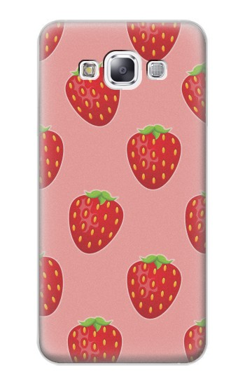 Printed Strawberry Fruit Pattern Samsung Galaxy E7 Case