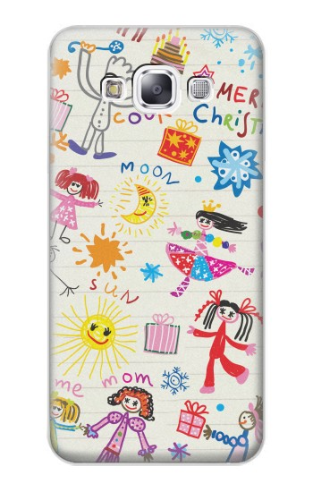 Printed Kids Drawing Samsung Galaxy E7 Case