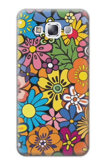 Printed Colorful Flowers Pattern Samsung Galaxy E7 Case