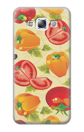 Printed Seamless Food Vegetable Samsung Galaxy E7 Case