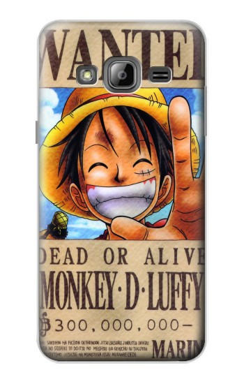 Printed One Piece Monkey D Luffy Wanted Poster Samsung Galaxy J1 Case