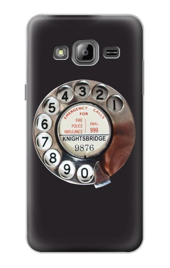 Printed Retro Rotary Phone Dial On Samsung Galaxy J1 Case