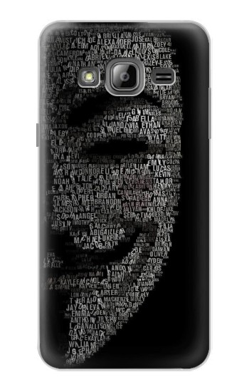 Printed V Mask Guy Fawkes Anonymous Samsung Galaxy J1 Case