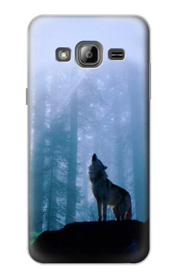 Printed Wolf Howling in Forest Samsung Galaxy J1 Case
