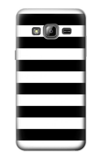 Printed Black and White Striped Samsung Galaxy J1 Case