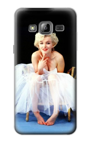 Printed Marilyn Monroe White Dress Samsung Galaxy J1 Case