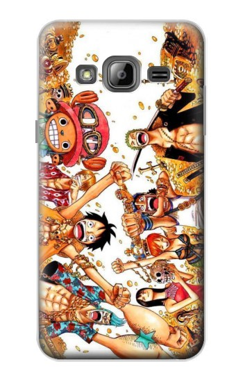 Printed One Piece Straw Hat Luffy Pirate Crew Samsung Galaxy J1 Case