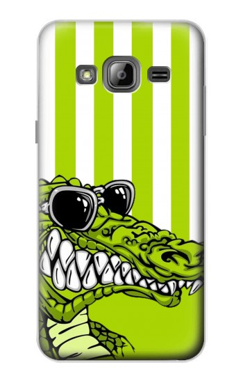 Printed Funny Green Alligator Crocodile Samsung Galaxy J1 Case